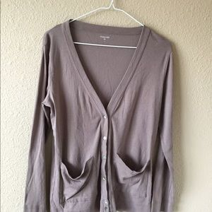 Garnet Hill S cotton cardigan sweater knit pockets